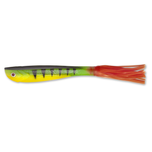 Hairy Mary Shad-firetiger hot tail