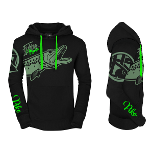 Hot Spot Design Fishing Mania Hoodie Pike