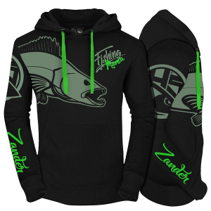 Hot Spot Design Fishing Mania Hoodie Zander
